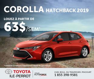 Corolla Hatchback 2019