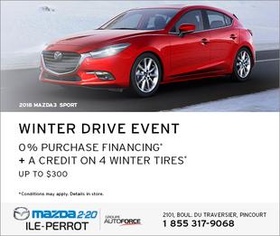 2018 MAZDA3 SPORT - WINTER DRIVE EVENT