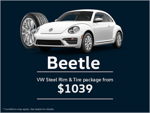 Get a VW Steel Rim and Tire Package for Your Beetle!