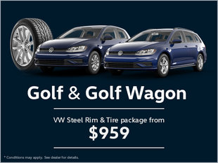 Get a VW Steel Rim and Tire Package for Your Golf and Golf Wagon!