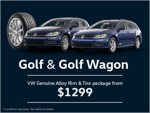 Get a Genuine Alloy Rim and Tire Package for Your Golf and Golf Wagon!