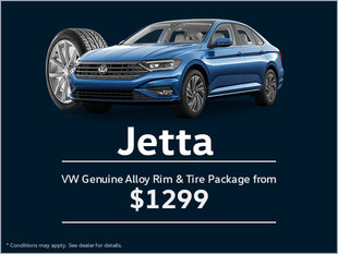 Get a Genuine Alloy Rim and Tire Package for Your Jetta!