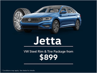 Get a VW Steel Rim and Tire Package for Your Jetta!