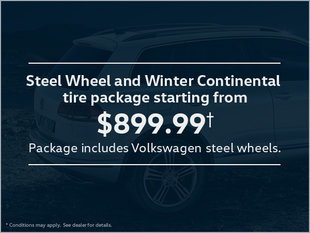 Steel Wheel and Winter Continental Tire Package from $899.99!