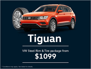 Get a VW Steel Rim and Tire Package for Your Tiguan!