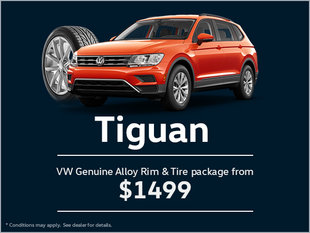 Get a Genuine Alloy Rim and Tire Package for Your Tiguan!