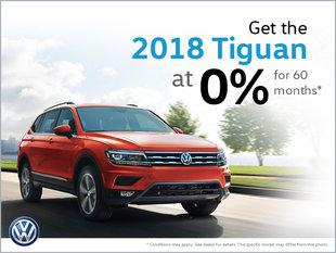 Get the 2018 Tiguan at 0%!