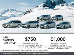 New Owner's Incentives