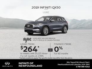 Get a new 2019 INFINITI QX50 today!
