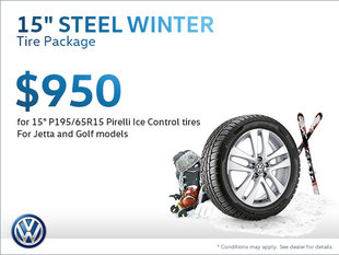 Get a Steel Winter Tire Package for $950!