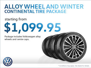 Get an Alloy Wheel and Winter Continental Tire Package!