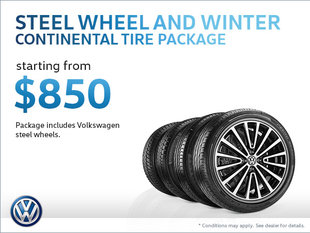 Get a Steel Wheel and Winter Continental Tire Package from $850!