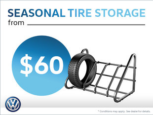 Take Advantage of Seasonal Tire Storage from $60!