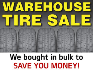 Warehouse Tire Sale