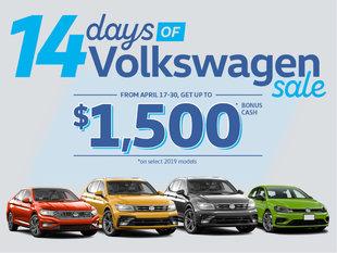 14 Days of Volkswagen Sale