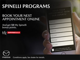 Book your next appointment online and get 50 My Spinelli points