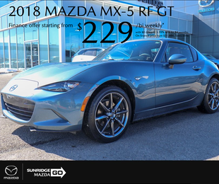 Get a 2018 Mazda MX-5 today!