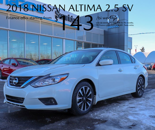 Get a 2018 Nissan Altima today!