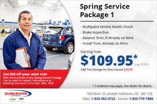Get a Spring Service Package 1!