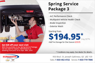 Get a Spring Service Package 3!