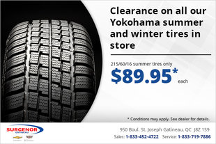 Clearance on Yokohama Winter and Summer Tires!