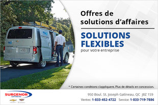 Les solutions d'affaires Chevrolet