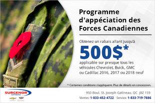 Programme d'appréciation des Forces Canadiennes