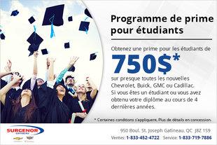 Le programme de prime pour étudiants