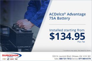 ACDelco Advantage 75A Battery