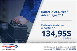 Batterie ACDelco Advantage 75A