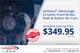 ACDelco Advantage Front Brake Pads and Rotors