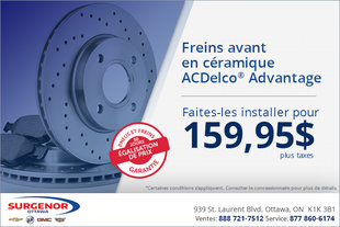 Freins avant ACDelco Advantage