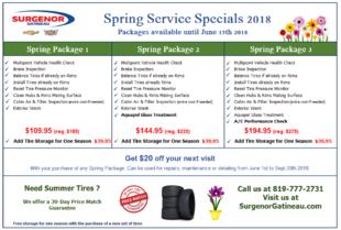 Spring Service Specials - Surgenor Gatineau