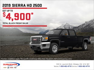 The 2019 GMC Sierra 2500 HD