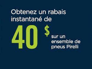 OBTENEZ UN RABAIS INSTANTANÉ DE 50 $ SUR UN ENSEMBLE DE PNEUS BRIDGESTONE OU FIRESTONE