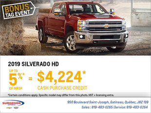 Get the 2019 Chevrolet Silverado HD