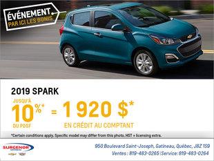 Obtenez la Chevrolet Spark 2019
