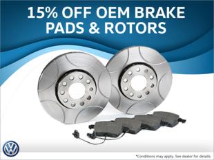 15% Off Brake Pads & Rotors