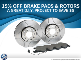 15% Off Brake Pads & Rotors