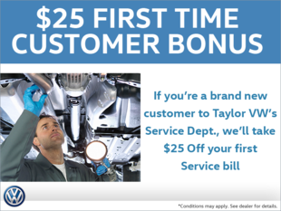 First Time Customer Bonus