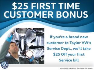 First Time Customer Bonus