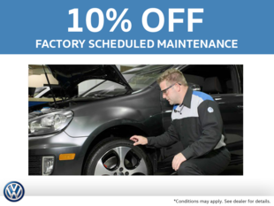 10% Off Factory Scheduled Maintenance
