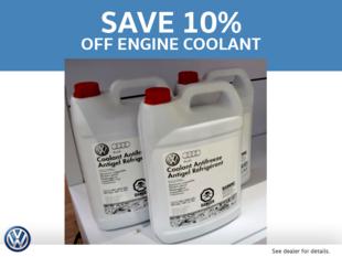 Save on engine coolant