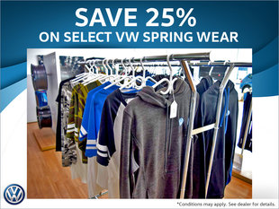 25% Off Select VW Spring Wear