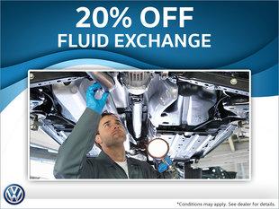 20% off fluid exchange