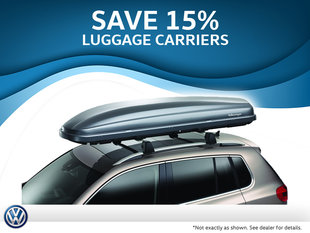 15% off Roof Luggage Carriers