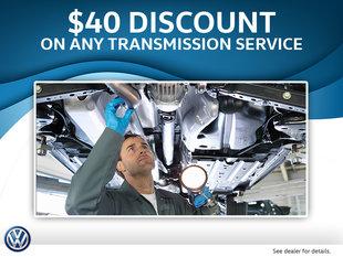 $40 Off Any Transmission Service