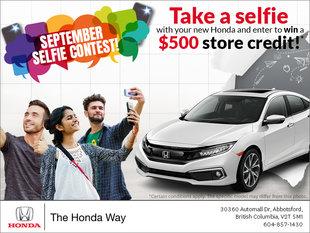 September Selfie Contest