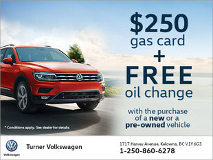 $250 Gas Credit & Free Oil Change