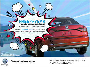 Free 4-Year Maintenance Package